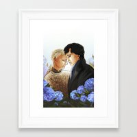 johnlock Framed Art Prints featuring Johnlock by Artistic Oddities