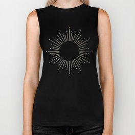 Simply Sunburst in Deep Coral Biker Tank