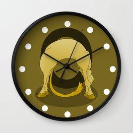 Pony Monogram Letter O Wall Clock