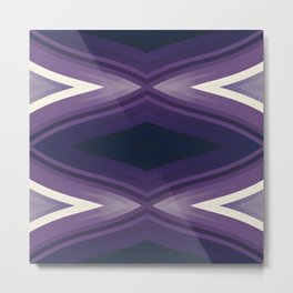 stripes wave pattern 6v2 fn Metal Print
