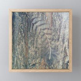 Bark Feather Framed Mini Art Print