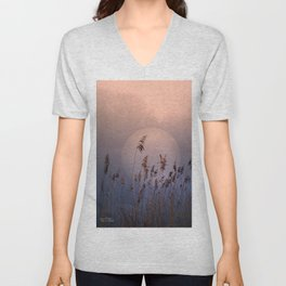 Lake with heart Unisex V-Neck