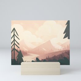 undiscovered - mountains Mini Art Print