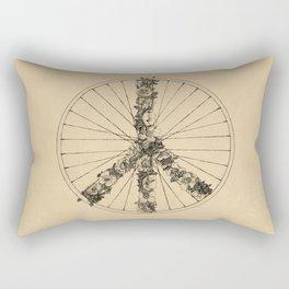 Peace & Bike (Lines) Rectangular Pillow