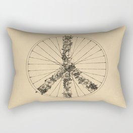 Peace & Bike (Lines) Rectangular Pillow