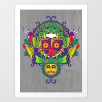 majora Art Prints featuring Majora Nouveau by Mareve Design