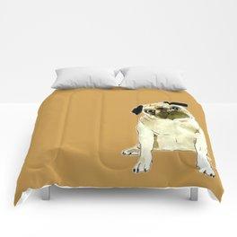 Sitting Pug Comforters