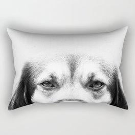 Dog portrait in black & white Rectangular Pillow