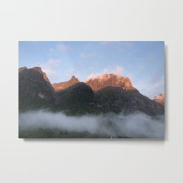 High mountains tops in Norway  | nature photo | fine art photo print | travel photography Metal Print