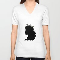 silhouette V-neck T-shirts featuring Silhouette by Urlaub Photography