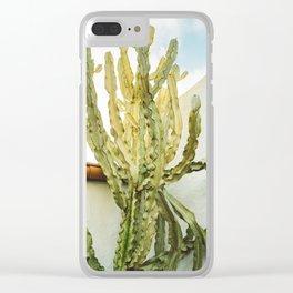 California Cactus Clear iPhone Case