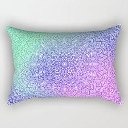 Northern Lights Beautiful colorful mandala Sophisticated ornament Rectangular Pillow