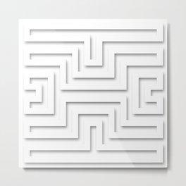 Diamond (Transparent) - Optical Illusion Metal Print