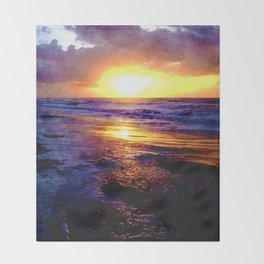 Atlantic Ocean Sunrise Throw Blanket