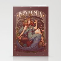 Stationery Cards featuring BOHEMIA by Medusa Dollmaker