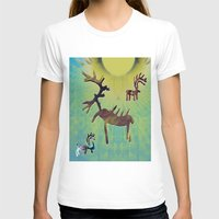 reindeer T-shirts featuring reindeer by donphil