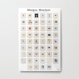 Morgue Mondays: 52 Weeks of Human Body Watercolor Paintings Metal Print
