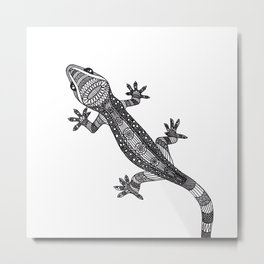Ornate gekko Metal Print
