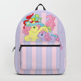 g1 my little pony Posey and baby Ember Backpack