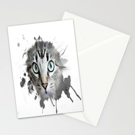 Cat Eyes Watercolor Stationery Cards