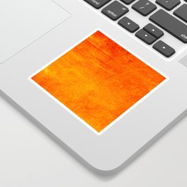 Orange Sunset Textured Acrylic Painting Sticker