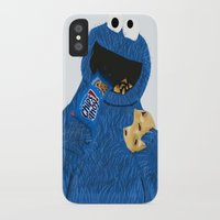 cookie monster iPhone & iPod Cases featuring Cookie Monster by Dano77