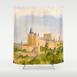 The Alcazar Segovia Spain Shower Curtain