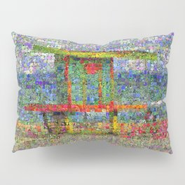 Miami Lifeguard Tower in Bloom Pillow Sham
