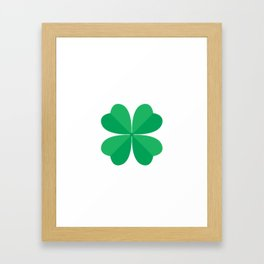 Funny Patrick's Day T-Shirt For Kids Framed Art Print