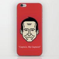 "robin williams iPhone & iPod Skins featuring ROBIN WILLIAMS - ""Captain, My Captain!"" by Gerardo Lisanti"