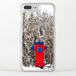 Fire hydrant somewhere (Why there ?) Clear iPhone Case
