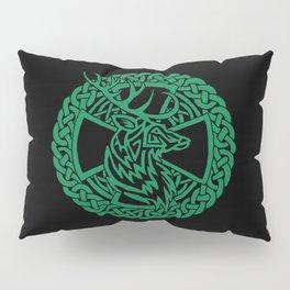 Celtic Nature Deer Pillow Sham