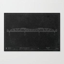 Broadway Bridge — Darkprint Canvas Print