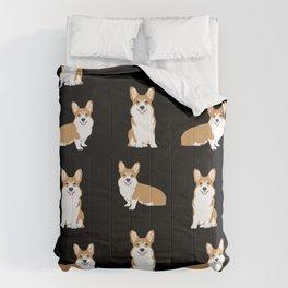 Corgis - Cute corgi, dog pet, corgi decor, corgi pillow, corgi bedding, corgi pattern, cute corgi Comforters
