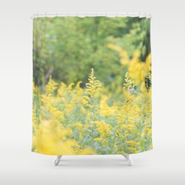 Field of Goldenrod Shower Curtain