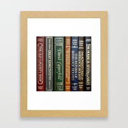 Books 2 Framed Art Print