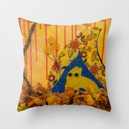 i wonder if the rain loves the trees and fields, that it kisses them so gently? Throw Pillow