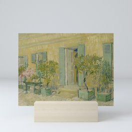 Exterior of a Restaurant in Asnières Mini Art Print