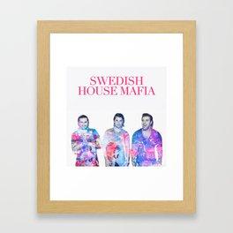 Swedish House Art Mafia Double Exposure Photo Art Framed Art Print