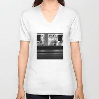 edinburgh V-neck T-shirts featuring Shop window Edinburgh by RMK Creative
