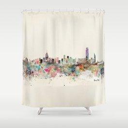 hong kong city skyline Shower Curtain