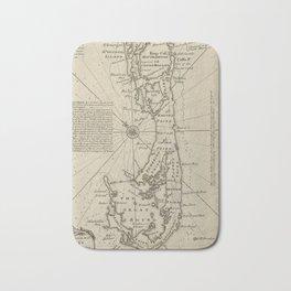 Vintage Map of Bermuda (1752) Bath Mat
