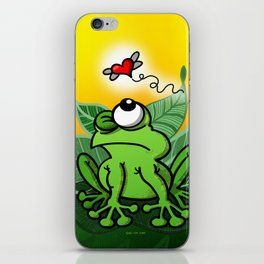 Frog Chasing Love iPhone Skin