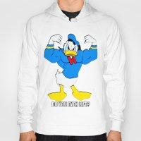 donald duck Hoodies featuring Donald Duck Lifts by VeilSide07