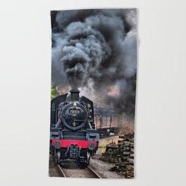 78019 Steam Train Beach Towel