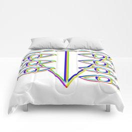 SEELE glitch art Comforters