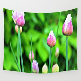 Flowering Chives Wall Tapestry
