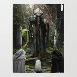 V. The Hierophant Tarot Card Illustration (Color) Poster