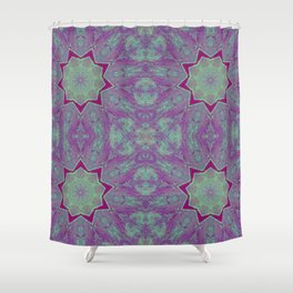 Geometric Stars Shower Curtain