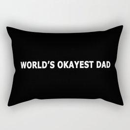 WORLD'S OKAYEST DAD Rectangular Pillow